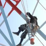 大型鉄塔塗装作業
